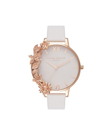 Ladies Rose Gold Case Cuff for Watches | Olivia Burton London | Olivia Burton Intl
