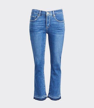 Unpicked Flare Crop Jeans in Vintage Mid Indigo Wash