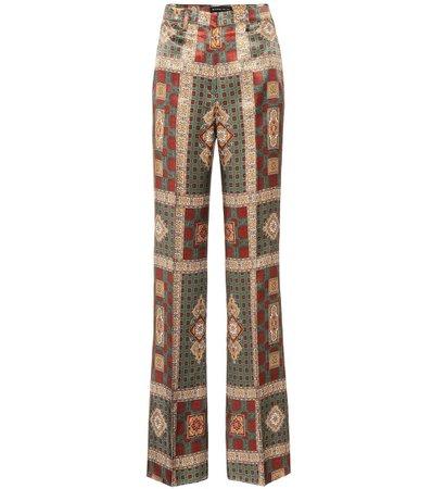 Etro - High-rise printed pants   Mytheresa