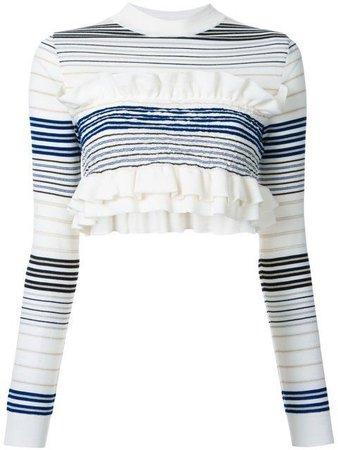 Stella McCartney cropped striped frill jumper.
