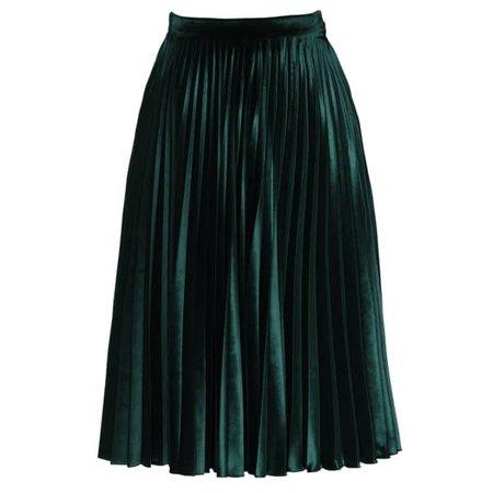 Aurora Skirt Velvet Emerald | Lena Hoschek | Wolf & Badger