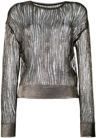 open stitch sheer jumper