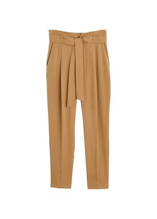 MANGO Detachable belt trousers