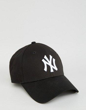 New Era black NY 9forty cap   ASOS