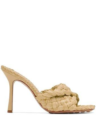 Bottega Veneta Stretch 90mm Raffia Sandals - Farfetch