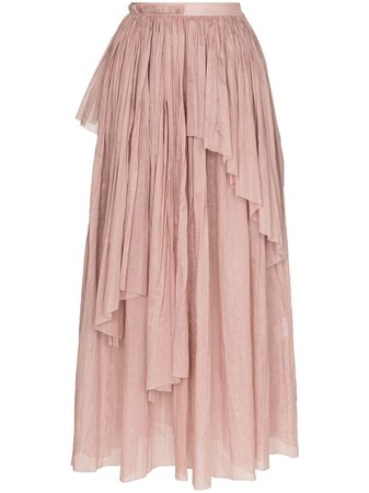 Vika Gazinskaya Asymmetric Pleated Midi Skirt - Farfetch