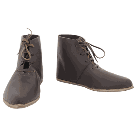 Medieval Front Laced Ankle Boots - GB0797 by Medieval Collectibles