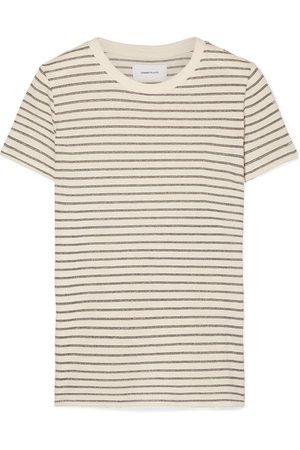 Current/Elliott   The Retro T-Shirt aus Jersey aus einer Baumwollmischung mit Streifen in Metallic-Optik   NET-A-PORTER.COM