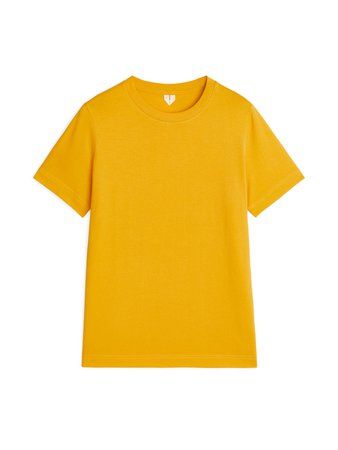 Crew-Neck T-shirt - Yellow - Tops - ARKET GB