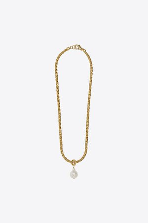 NATURAL PEARL NECKLACE | ZARA United States gold