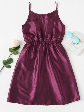 Frill Trim Waist Cami Dress