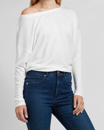 Relaxed Off The Shoulder Tee