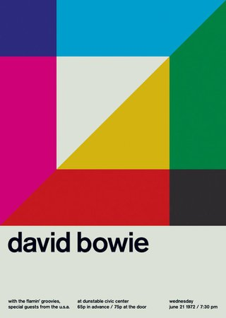 david bowie at dunstable civic center, 1972   Swissted