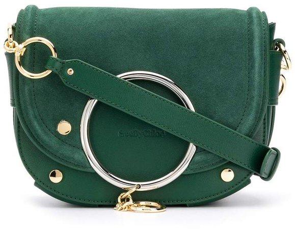 Mara ring-embellished crossbody bag