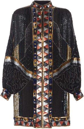 Etro Sequin Silk Mini Dress