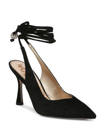 Sam Edelman Women's Harvie Pointed Toe Ankle Tie Pumps | Bloomingdale's