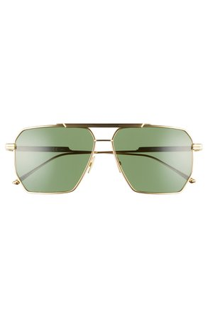 Bottega Veneta 60mm Aviator Sunglasses | Nordstrom
