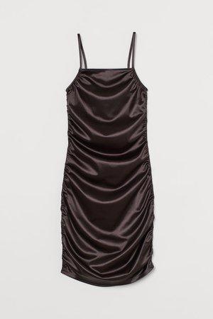 Shimmery Metallic Dress - Black