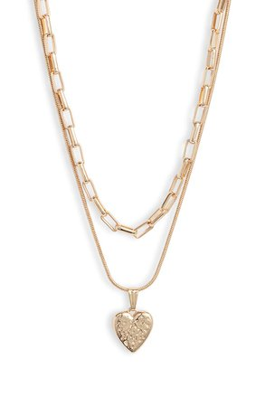 Something Navy Layered Heart Pendant Necklace (Nordstrom Exclusive) | Nordstrom