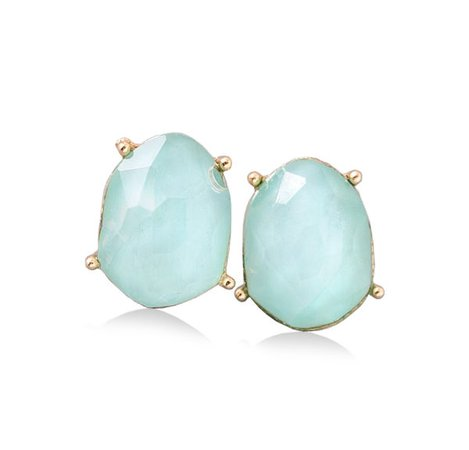 Diamond mint sparkle earrings - YUWWI