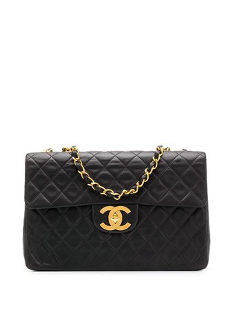Chanel Pre-Owned 1995 Jumbo 2.55 Chain Shoulder Bag Vintage | Farfetch.com