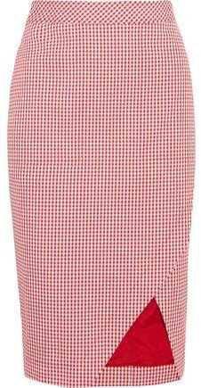 Altuzarra Wilcox Gingham Cotton-Blend Wrap-Effect Skirt