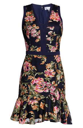 Adelyn Rae Kaylea Sleeveless Embroidered Minidress | Nordstrom