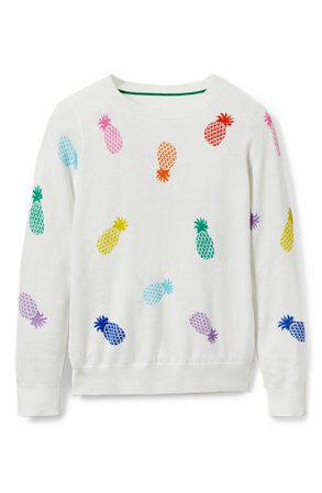 Boden Pineapple Cotton Sweater | Nordstrom