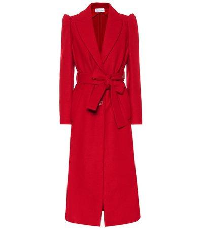 Wool And Cashmere-Blend Coat - REDValentino   Mytheresa
