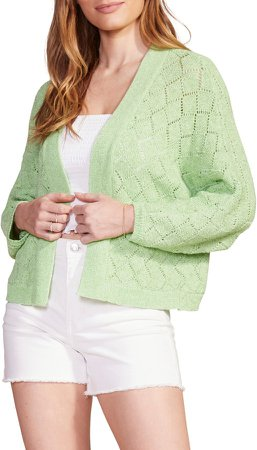 Gimme Shelter Open Stitch Crop Cardigan
