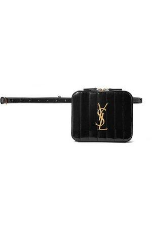 Saint Laurent   Vicky quilted patent-leather belt bag   NET-A-PORTER.COM