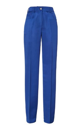 Pleated Satin Trousers by Helmut Lang | Moda Operandi