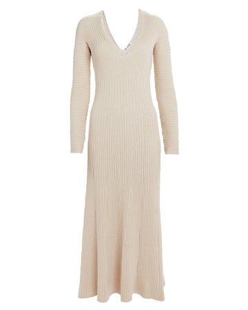 Fawn Ribbed Knit Dress