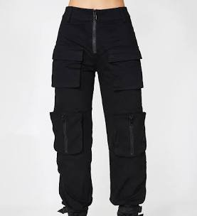 women's cargo pants black
