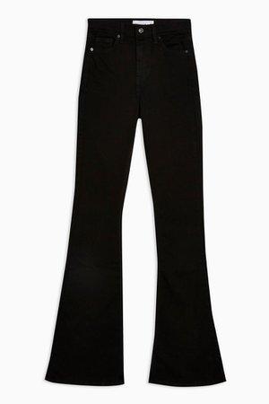 Pure Black Jamie Flare Skinny Jeans | Topshop
