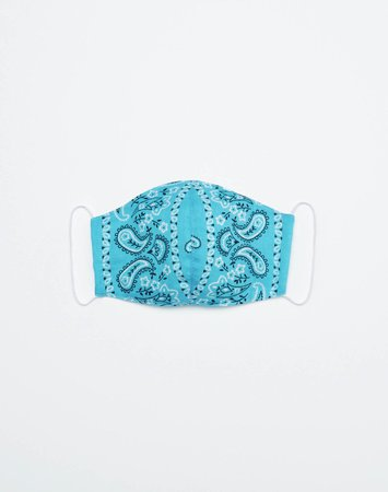 RE/DONE | Upcycled Bandana Mask in Blue