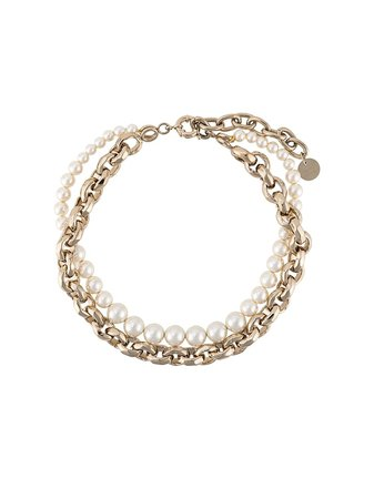 Ermanno Scervino Pearl And Chain Choker Necklace - Farfetch