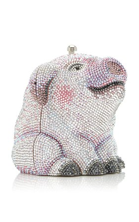 Wilbur Pig Crystal Novelty Clutch By Judith Leiber Couture | Moda Operandi
