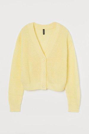 Cropped Cardigan - Yellow