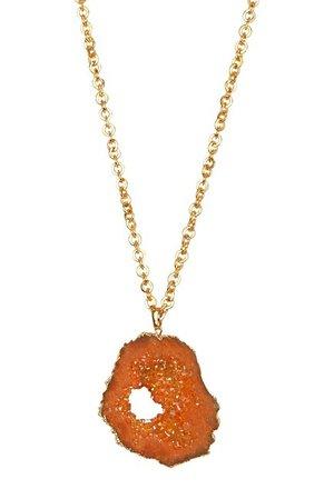 Bansri   Sliced Gold Geode Druzy Necklace   Nordstrom Rack