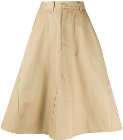 high waisted A-line skirt