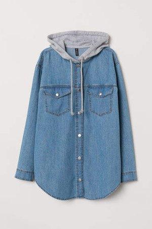 Hooded Shirt - Blue