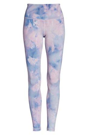 Zella Spray Dye High Waist Leggings tie-die