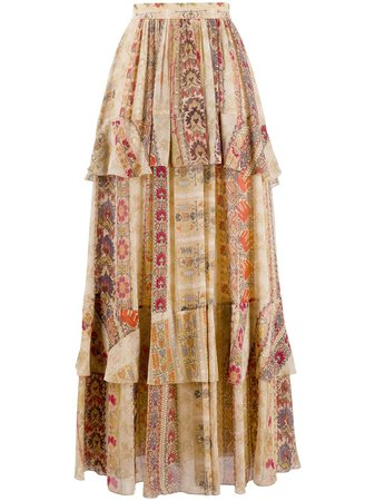 Etro paisley-printed Tiered Maxi Skirt - Farfetch