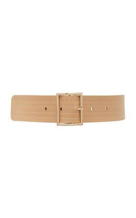 Wide Stitched Leather Belt by Maison Boinet | Moda Operandi