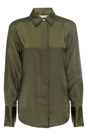 FRAME Perfect Washable Silk Shirt   Nordstrom
