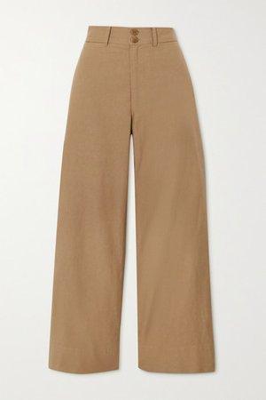 Merida Cotton Straight-leg Pants - Camel