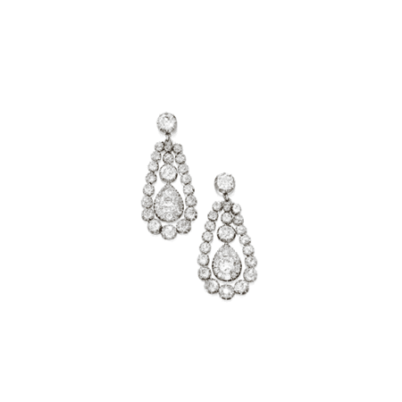 Diamond Pendant Earrings