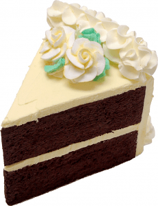Lemon cake slice large - Fake - Cake - Decorcentral.com DBA Flora-cal Products - DecorCentral.com DBA-Flora-Cal