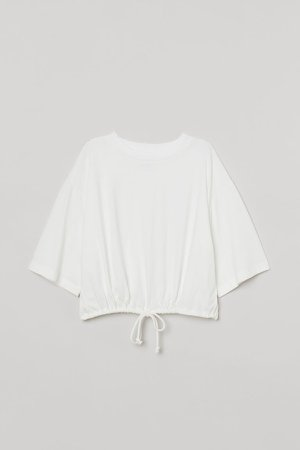 Drawstring T-shirt - White